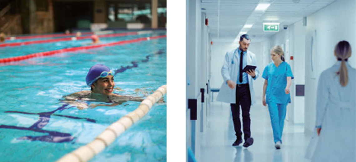 Wärme für Schwimmbäder oder Krankenhäuser