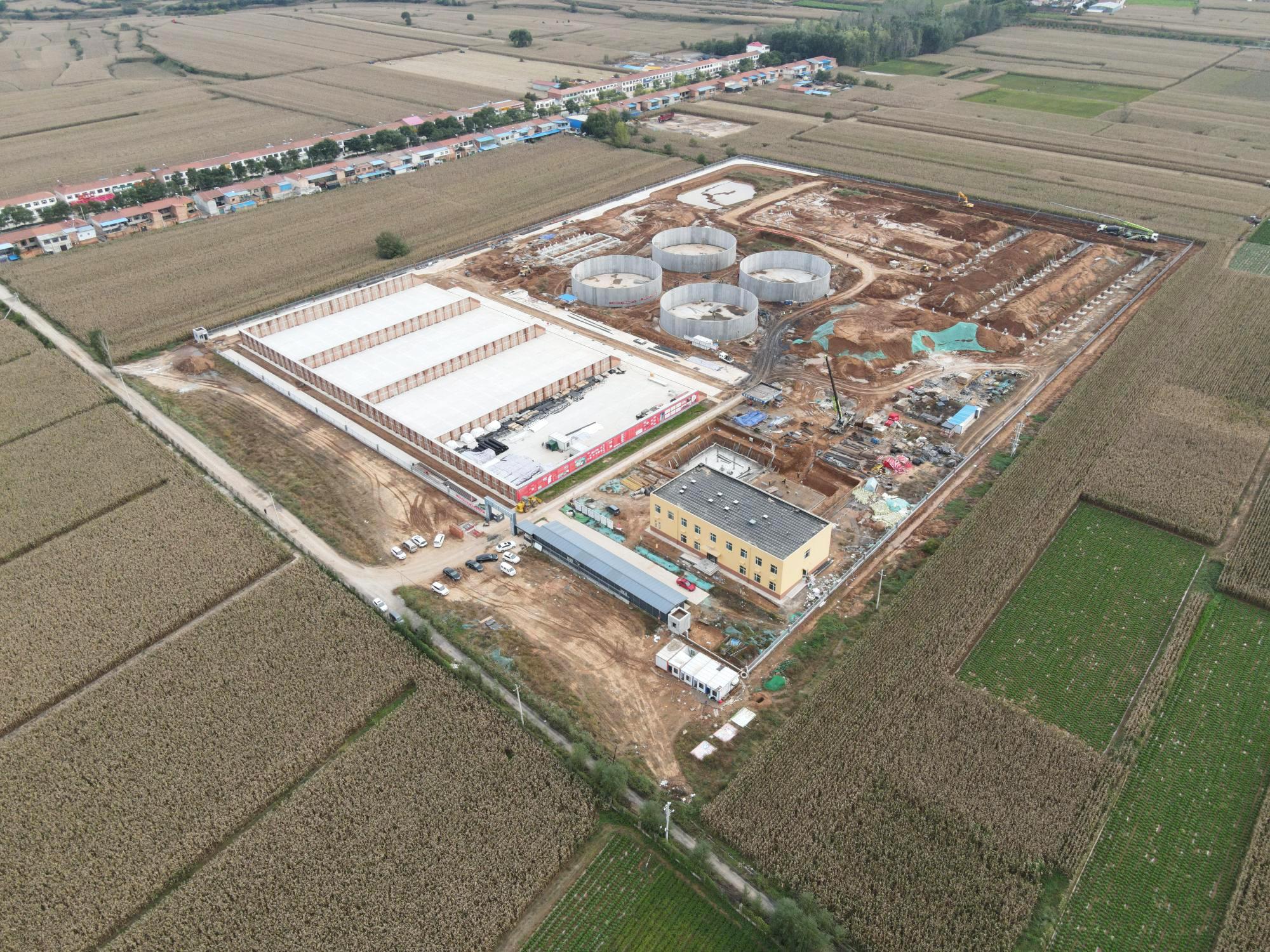 Bauarbeiten zur achten EnviTec Biogasanlage in China in vollem Gange