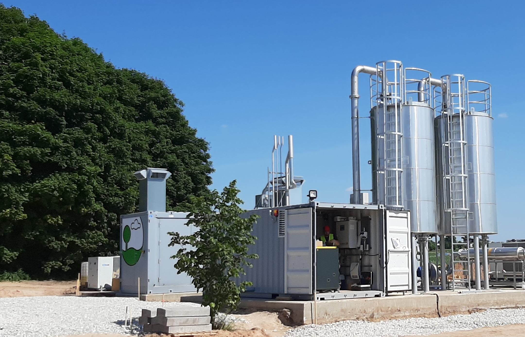 Nur 6 Monate nach Auftragseingang speist die Gasaufbereitungsanlage bereits Biomethan in das estnische Gasnetz ein.