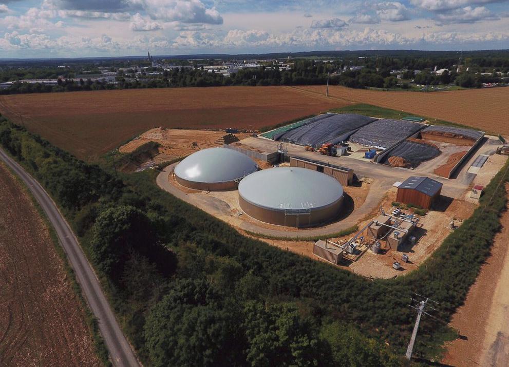 Kompakter, modularer Aufbau bietet Kunden maximale Flexibilität - EnviThan-Gaseinspeisung in Frankreich